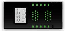 智能型壁掛雙網口式溫濕度傳感器-H-THD