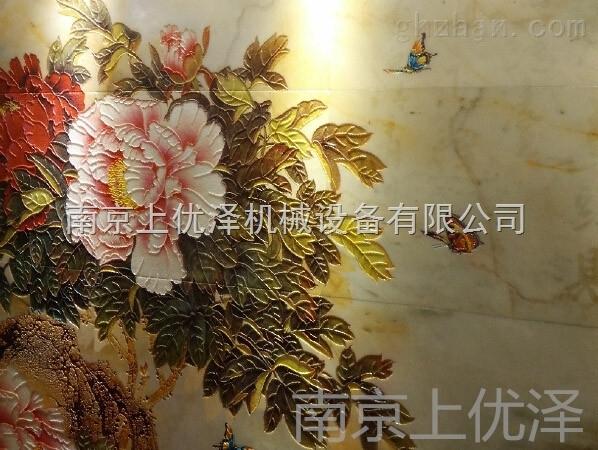 瓷砖影视墙UV喷墨彩印机 艺术玻璃3D装饰画打印机 瓷砖背景彩印机