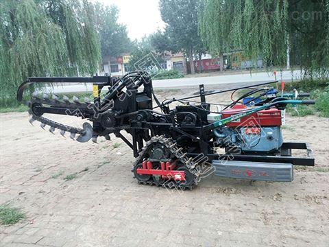 履带式开沟机价格 小型农用机械
