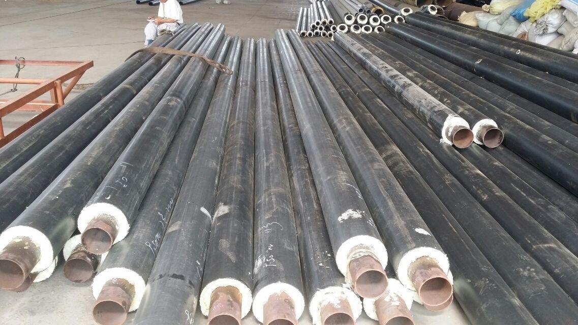 泰安聚氨酯直埋钢套钢蒸汽保温管