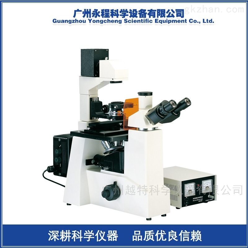 粤显XDY-1三目倒置荧光显微镜可配摄像头