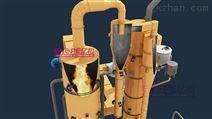 污泥干化热解气化处理工艺流程三维仿真动画