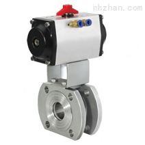 Q671F气动对夹球阀/气动超薄球阀