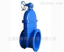 上海标一手动伞齿轮暗杆弹性大口径闸阀