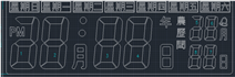 ZH-1633电子时间闹钟万年历IC