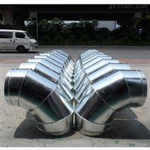 廣州優質生產鍍鋅圓形螺旋風管及彎頭三通