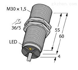 描述:不锈钢螺纹TURCK电感式传感器4600556