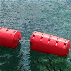 防浪塑料穿绳浮筒 消浪堤浮漂厂家