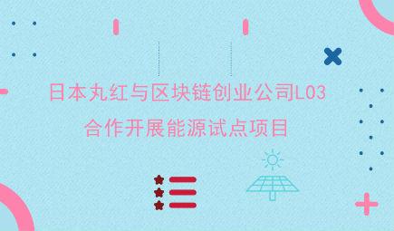 日本丸紅與區塊鏈創業公司LO3合作開展能源試點項目