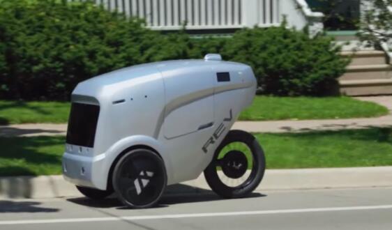 三轮送餐機器人亮相美国街头 使用量增长约四倍