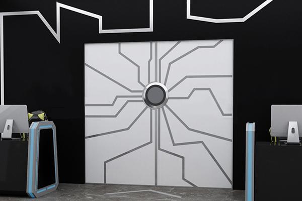 透明科技门