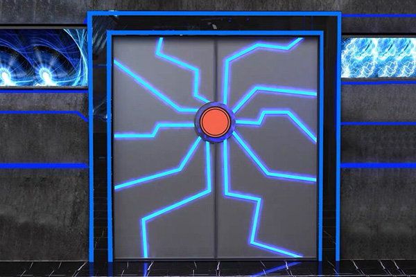 科幻机械金属门